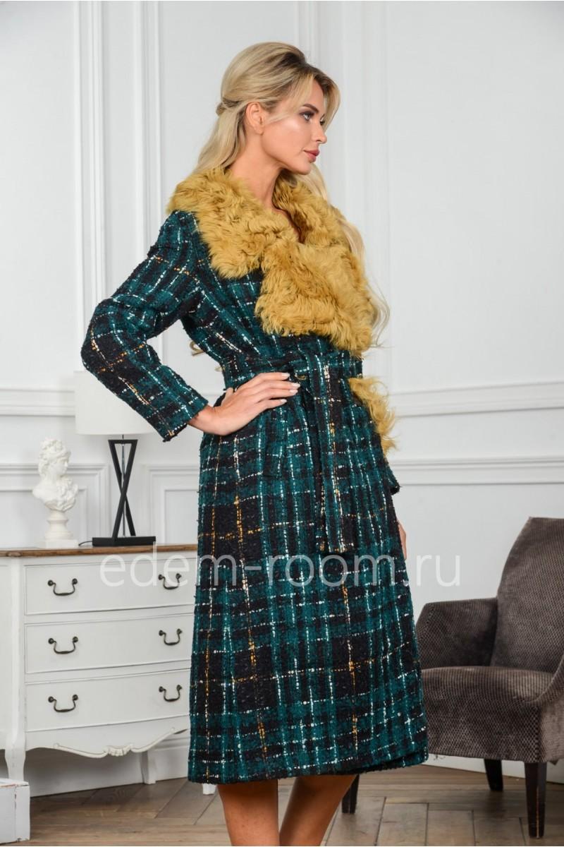 Шерстяное пальто на утеплителе