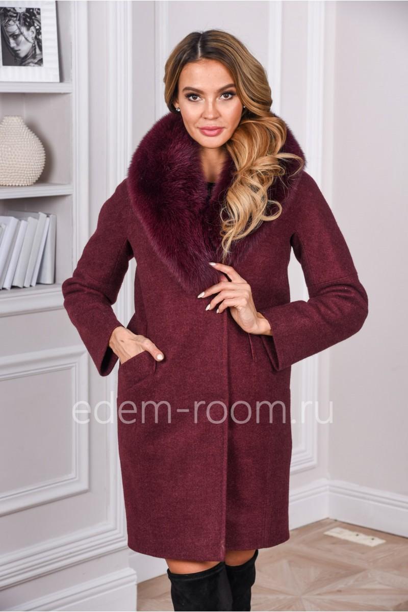 e41305c52187 Пальто с меховым воротником