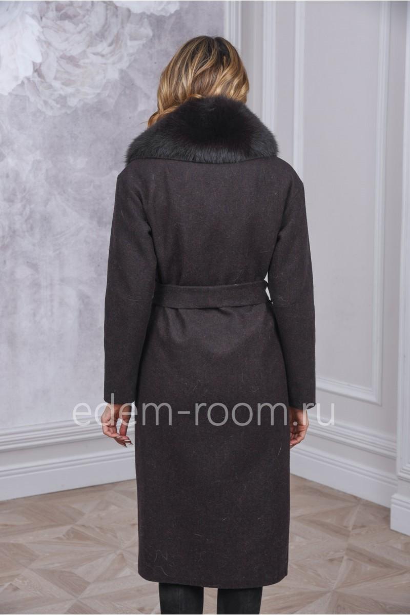 Зимнее пальто из шерсти