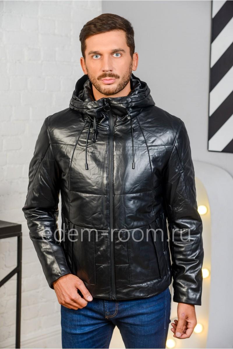 Кожаная куртка на утеплителе