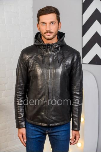 Куртка с капюшоном, черная