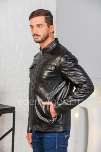 Куртка из натуральной кожи черная
