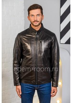 Классическая кожаная куртка для мужчин. Натуральная кожа.