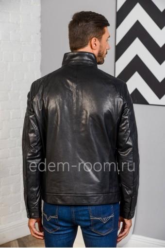Куртка из кожи, недорогая - 2020. Натуральная черная кожа