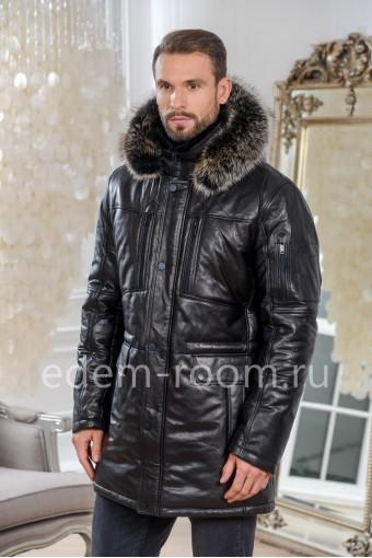 Практичная кожаная куртка для зимы
