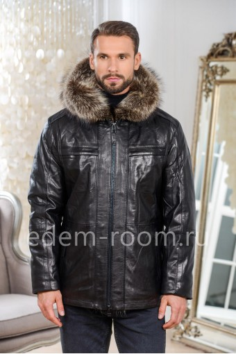 Куртка из натуральной кожи для зимней погоды