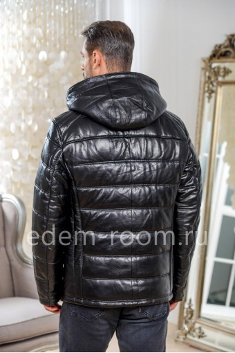 Зимняя мужская кожаная куртка