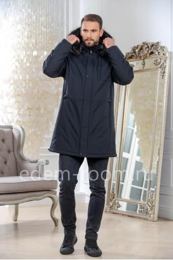 Мужская куртка - парка с меховым капюшоном