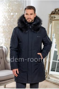 Удлинённая мужская куртка для зимы