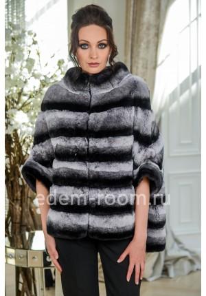 Куртка из рекса под шиншиллу