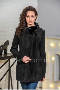 Демисезонная кожаная куртка для больших размеров