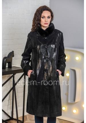 Кожаное пальто для больших размеров