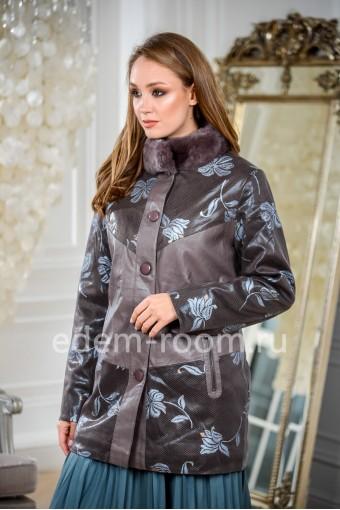 Куртка из эко-замши для больших размеров