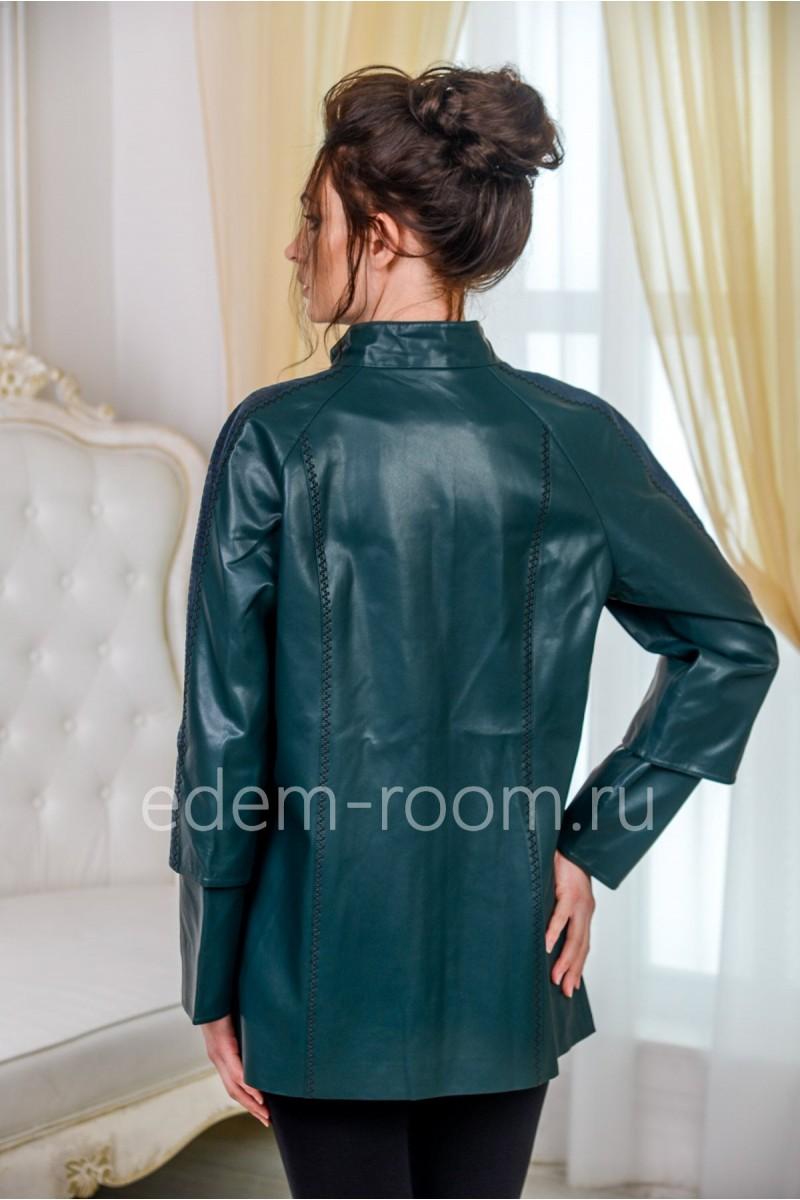 Куртка из экокожи для больших размеров