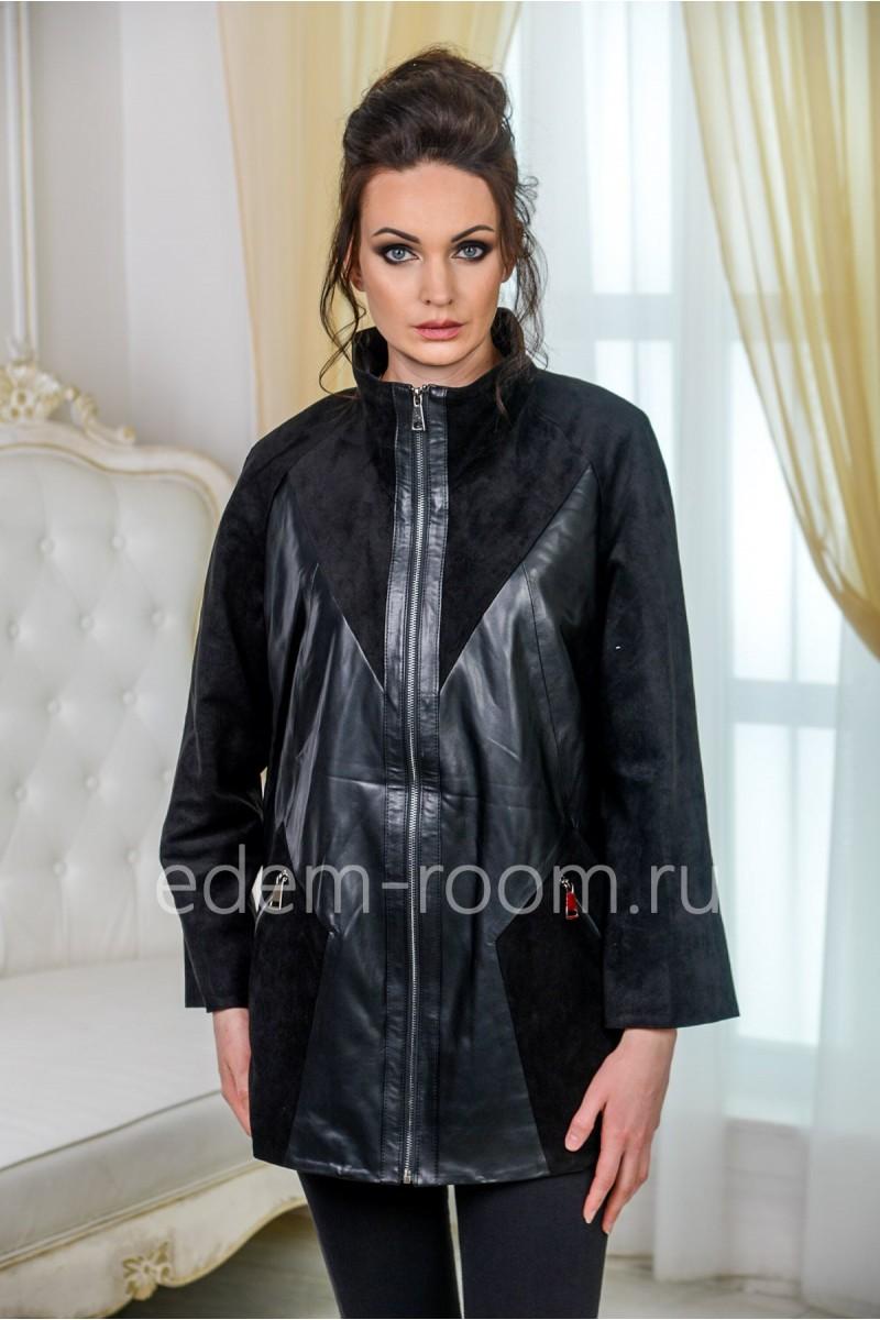 Куртка из не натуральной кожи на большие размеры