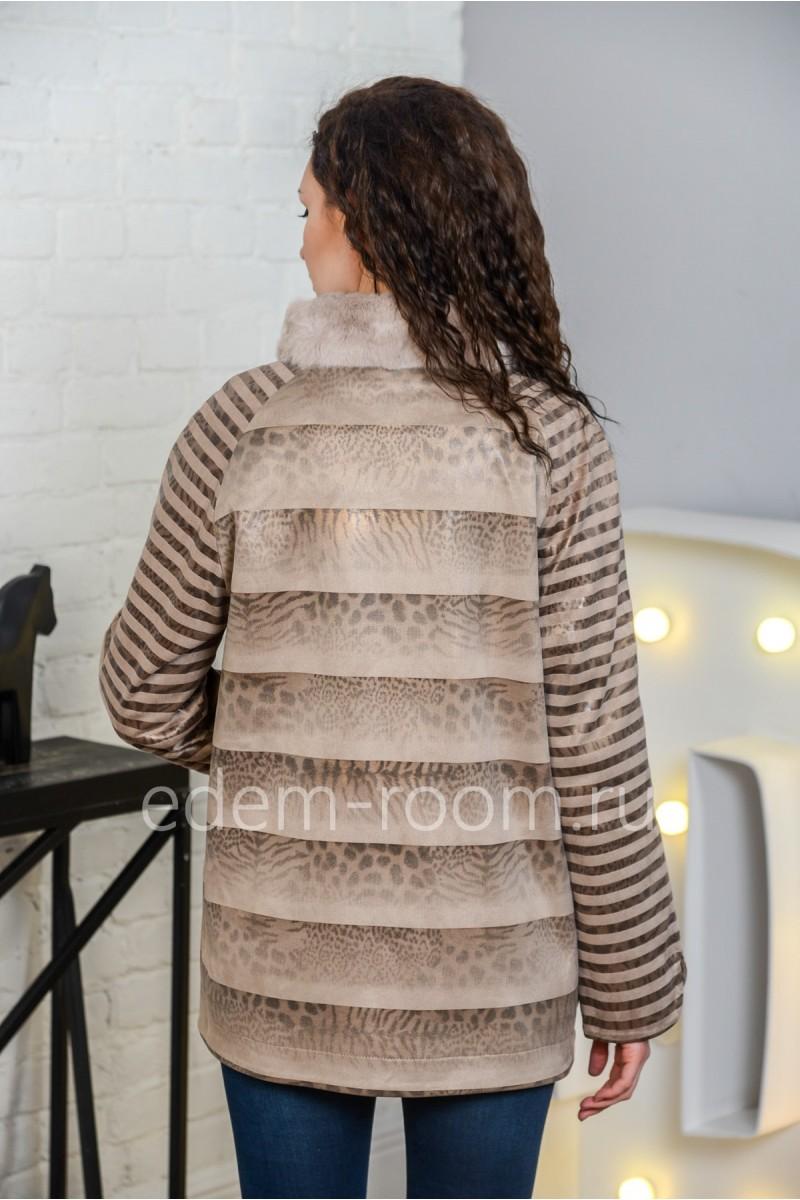 Куртка демисезонная из эко-замши