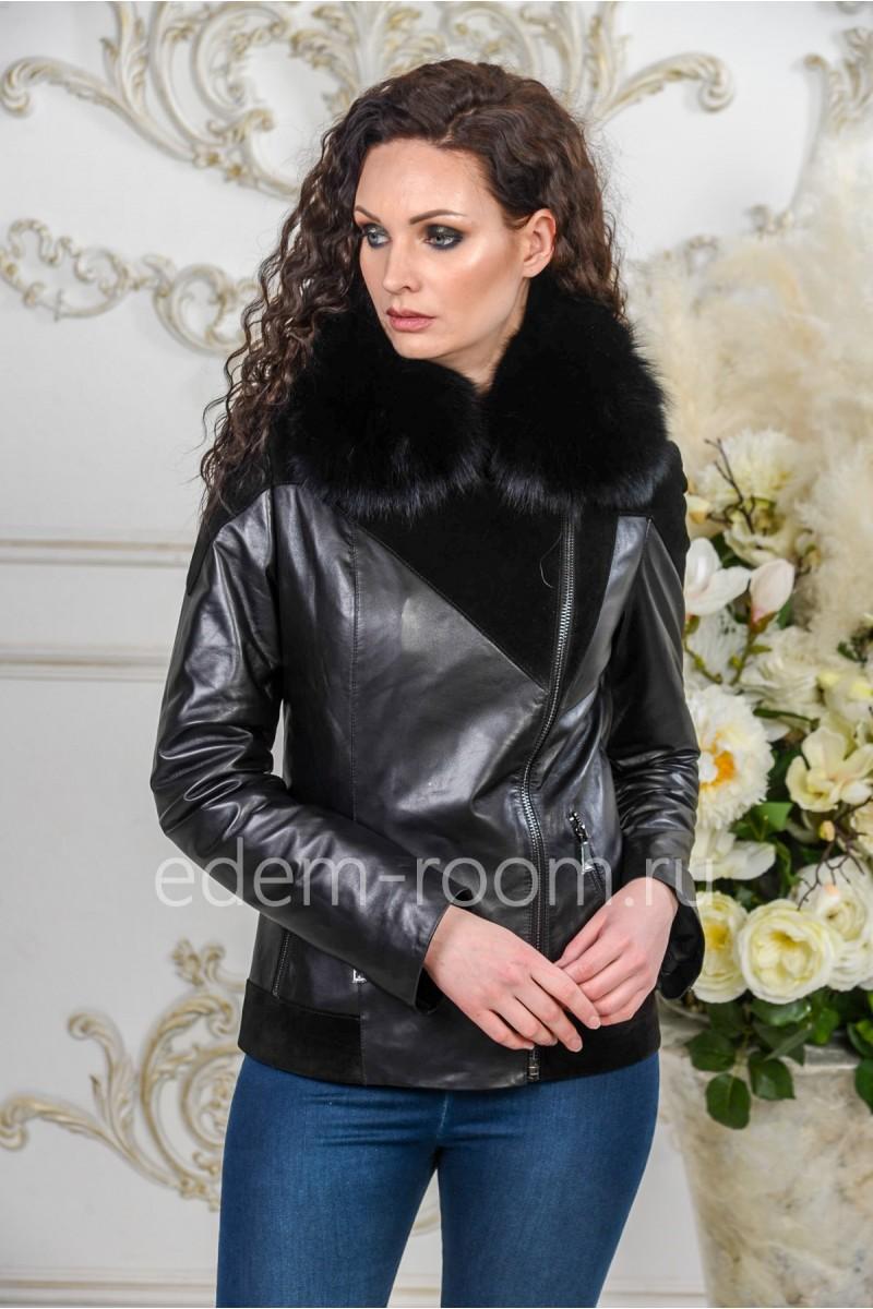 Демисезонная кожаная куртка - Весна 2019