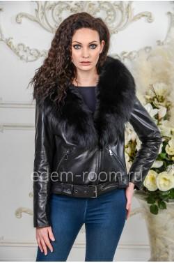 Демисезонная кожаная куртка - 2019