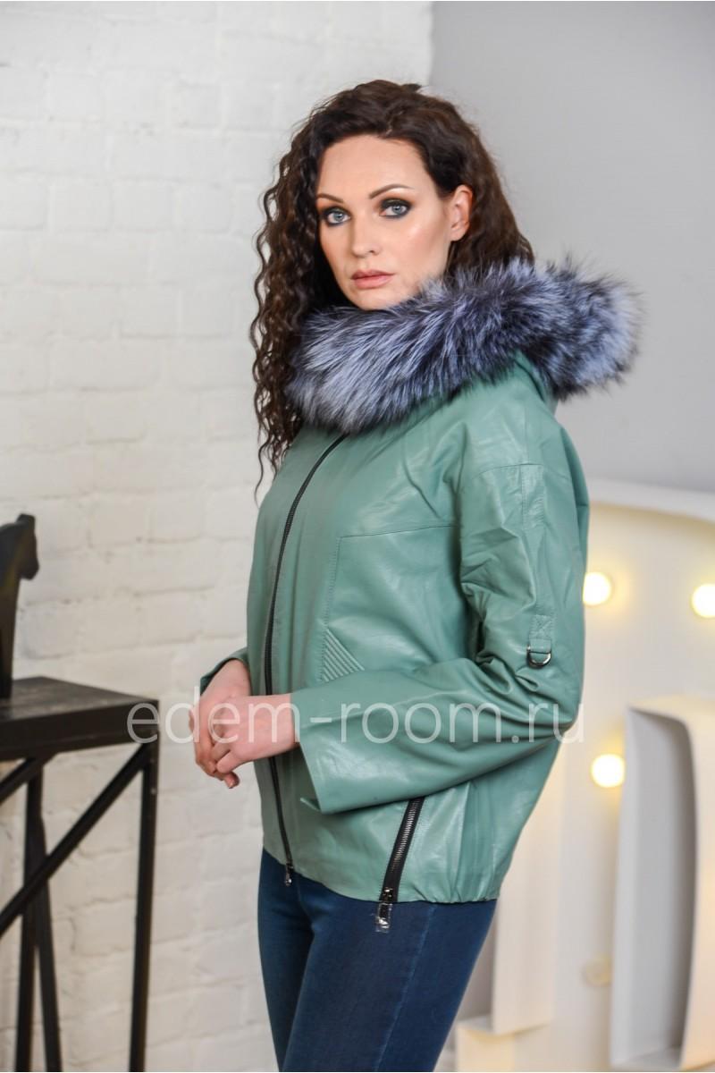 Осенне-весенняя куртка из эко-кожи