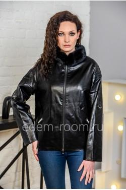 Осенне-весенняя куртка из искусственной кожи