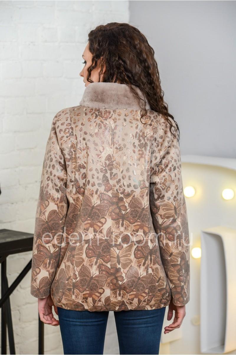 Куртка из экозамши для весны