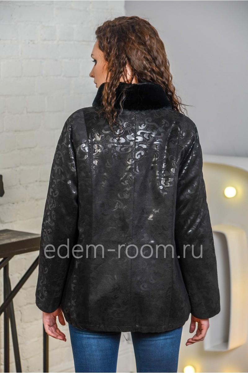 Куртка из экозамши для межсезонья