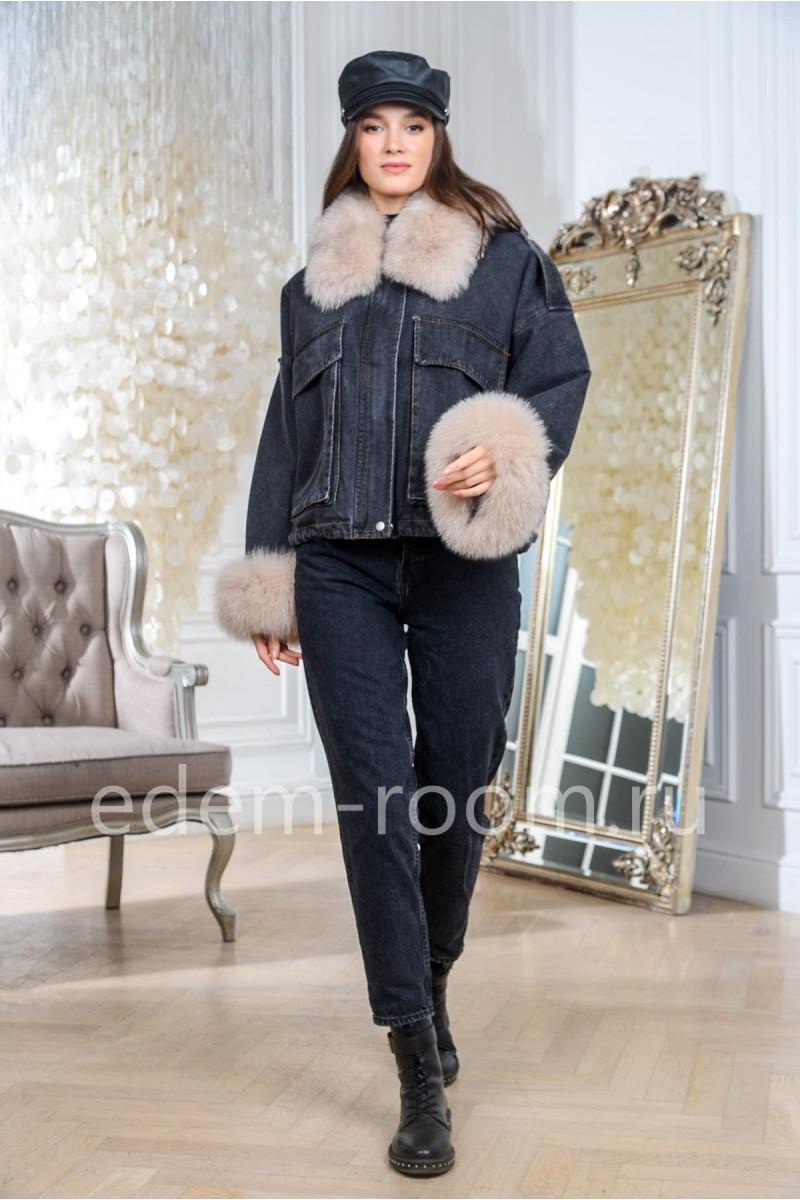 Зимняя джинсовка на мехе
