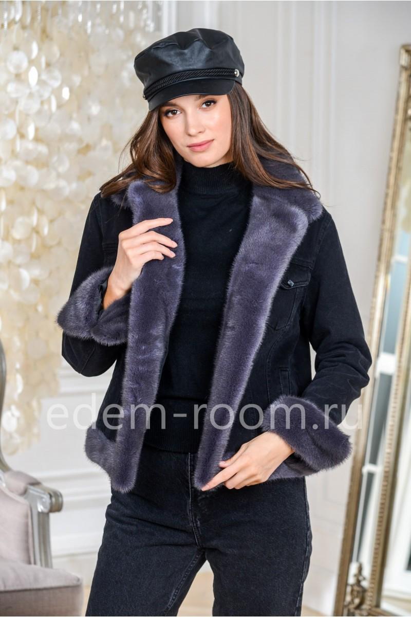Куртка утеплённая джинсовая с мехом