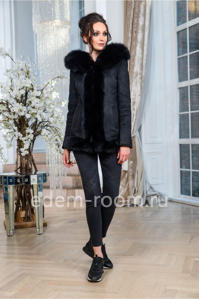 Куртка- дублёнка с мехом