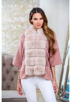 Укороченное вязанное пальто - куртка