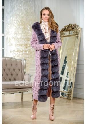 Кардиган - пальто из вязанного трикотажа