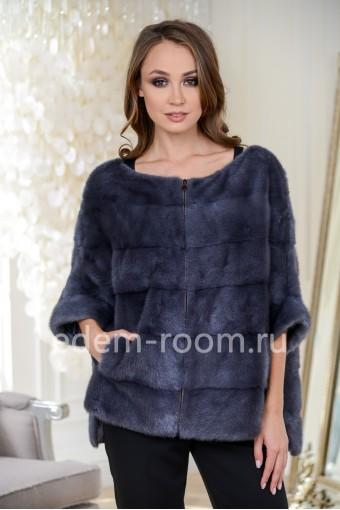 Кофта - куртка из меха норки на молнии