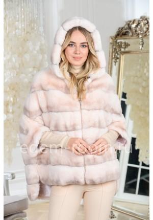 Куртка на молнии из меха кролика
