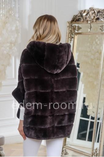 Куртка -кофта на молнии из кролика рекс
