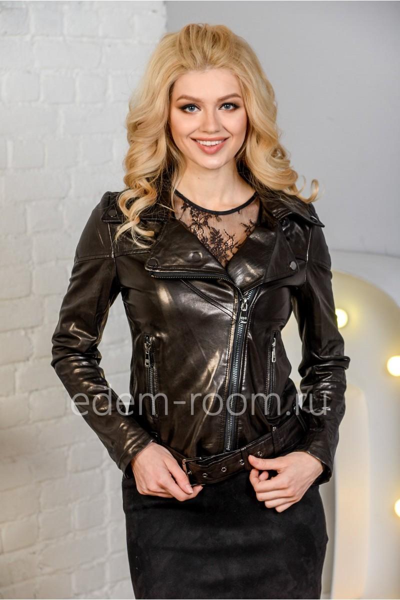 Женская кожаная куртка - косуха современная. Натуральная кожа