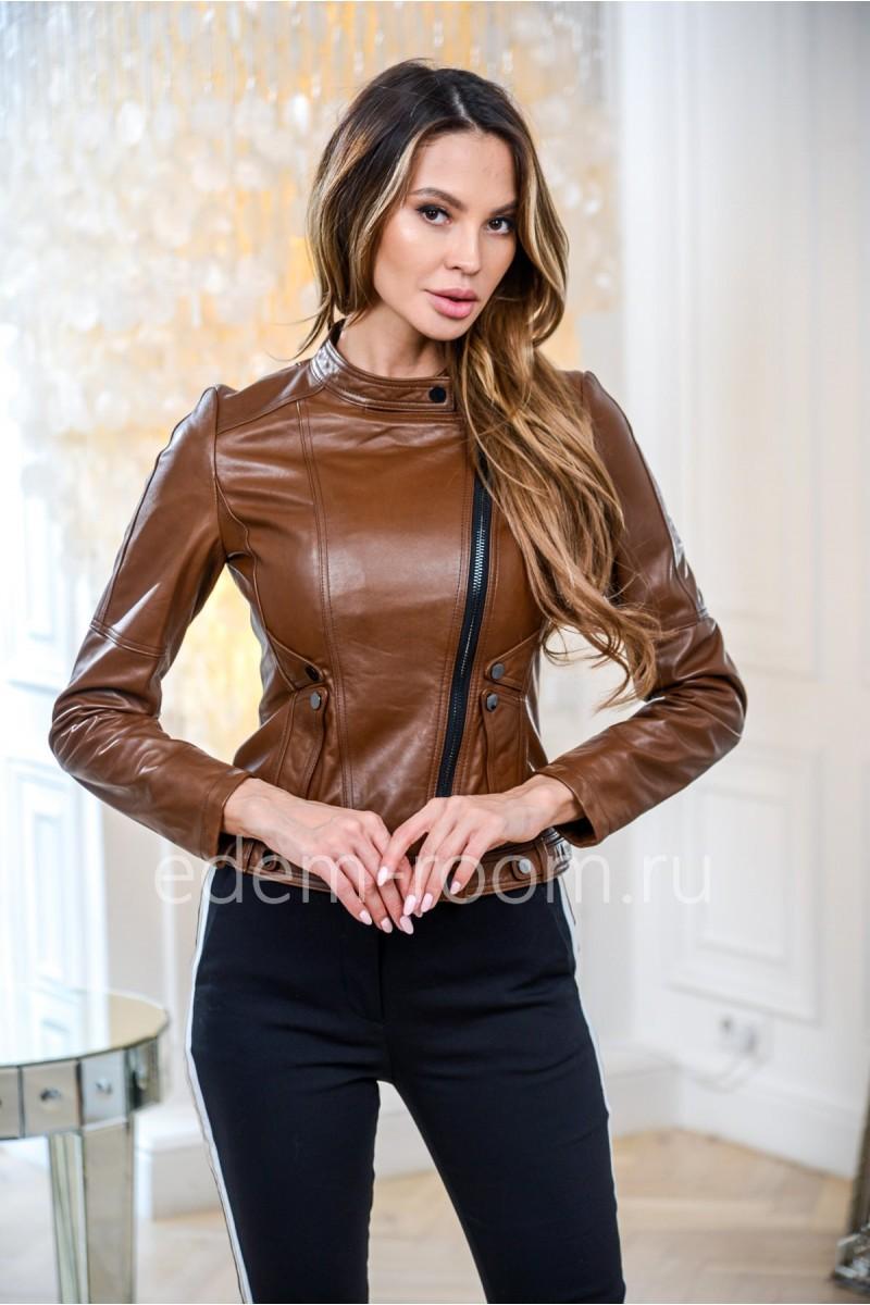 Короткая куртка кожаная