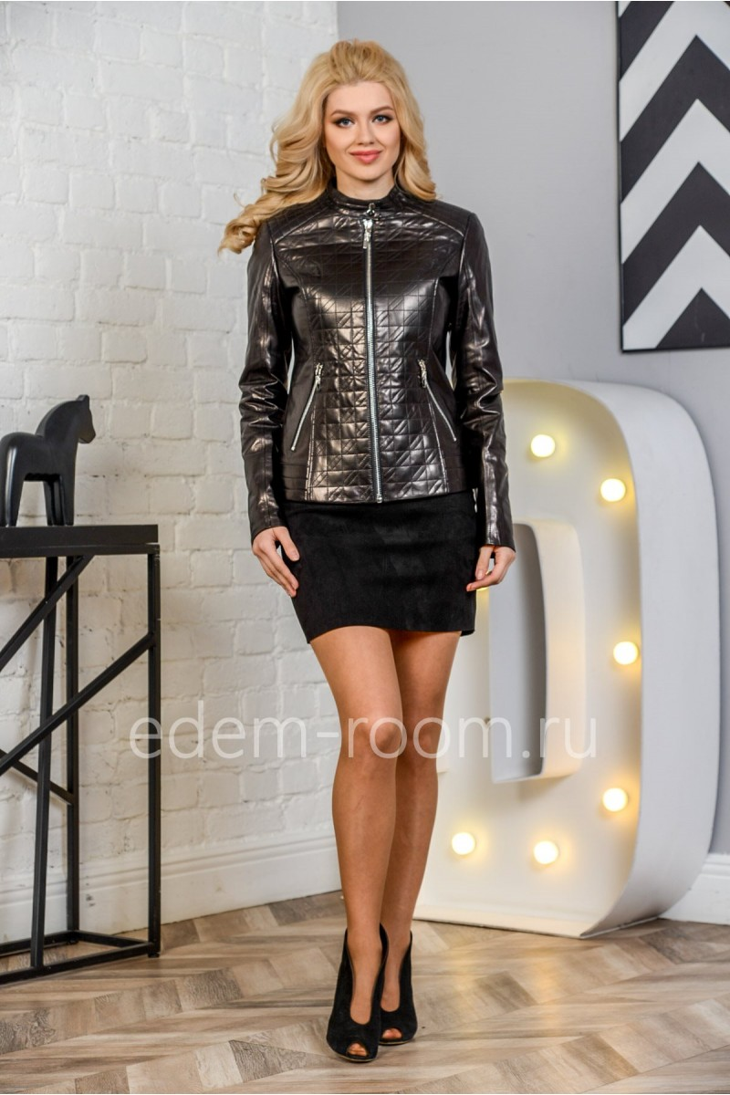 Женская кожаная куртка модная из натуральной кожи, молодежная