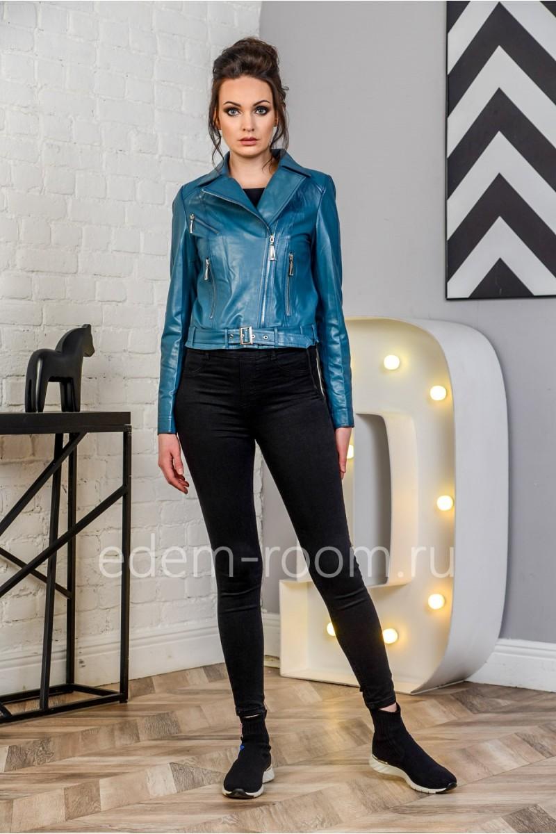Кожаная куртка - косуха из натуральной кожи на женщину