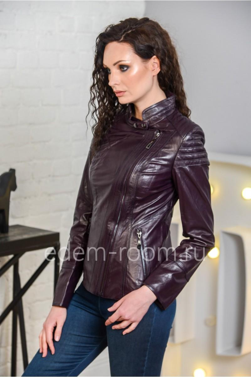 Кожаная куртка женская из натуральной кожи