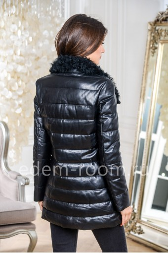 Пуховик - куртка из кожи