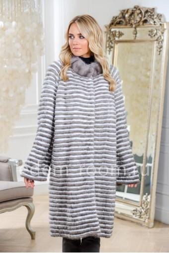 Тёплое пальто из меха норки