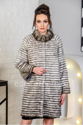 Зимнее пальто из меха норки