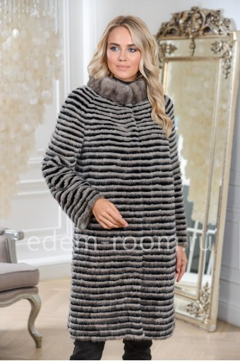 Женское пальто из меха норки