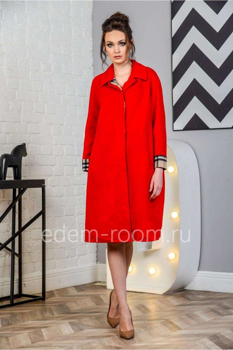 Красное пальто для женщин