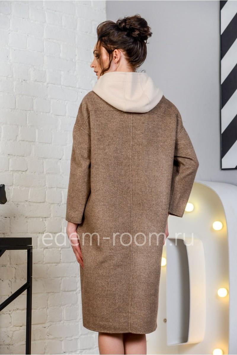 Пальто женское с капюшоном