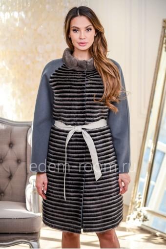 Пальто для женщин с мехом норки