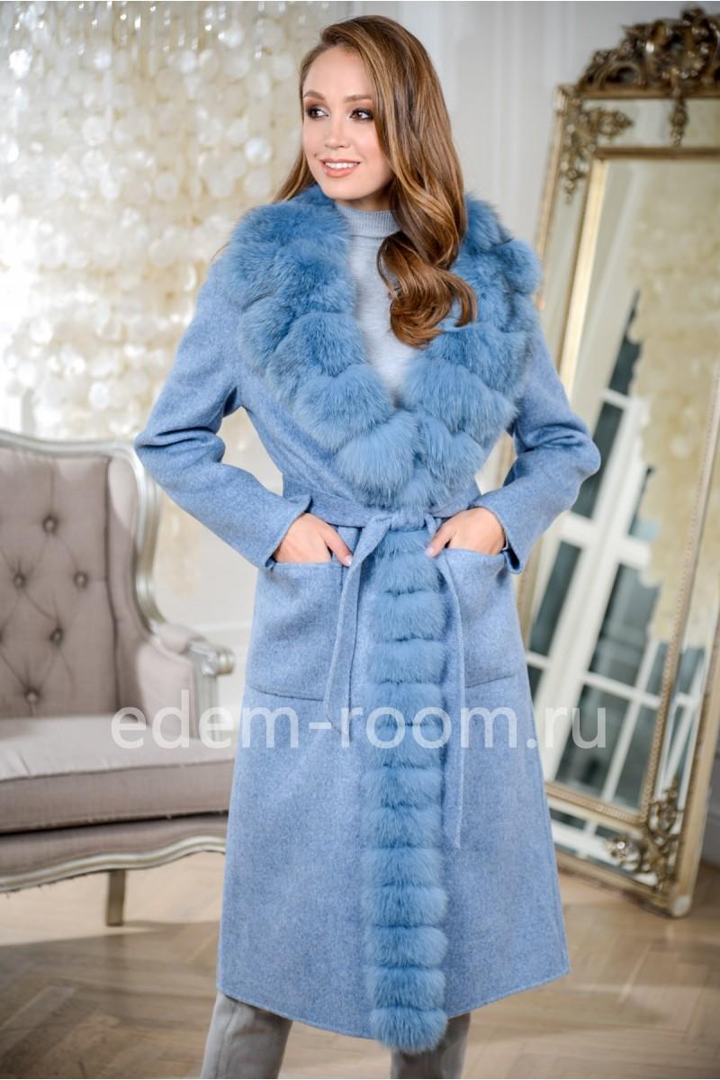 Демисезонное пальто из шерсти