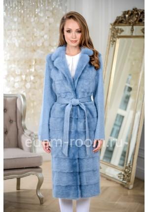 Шикарное пальто с английским воротником