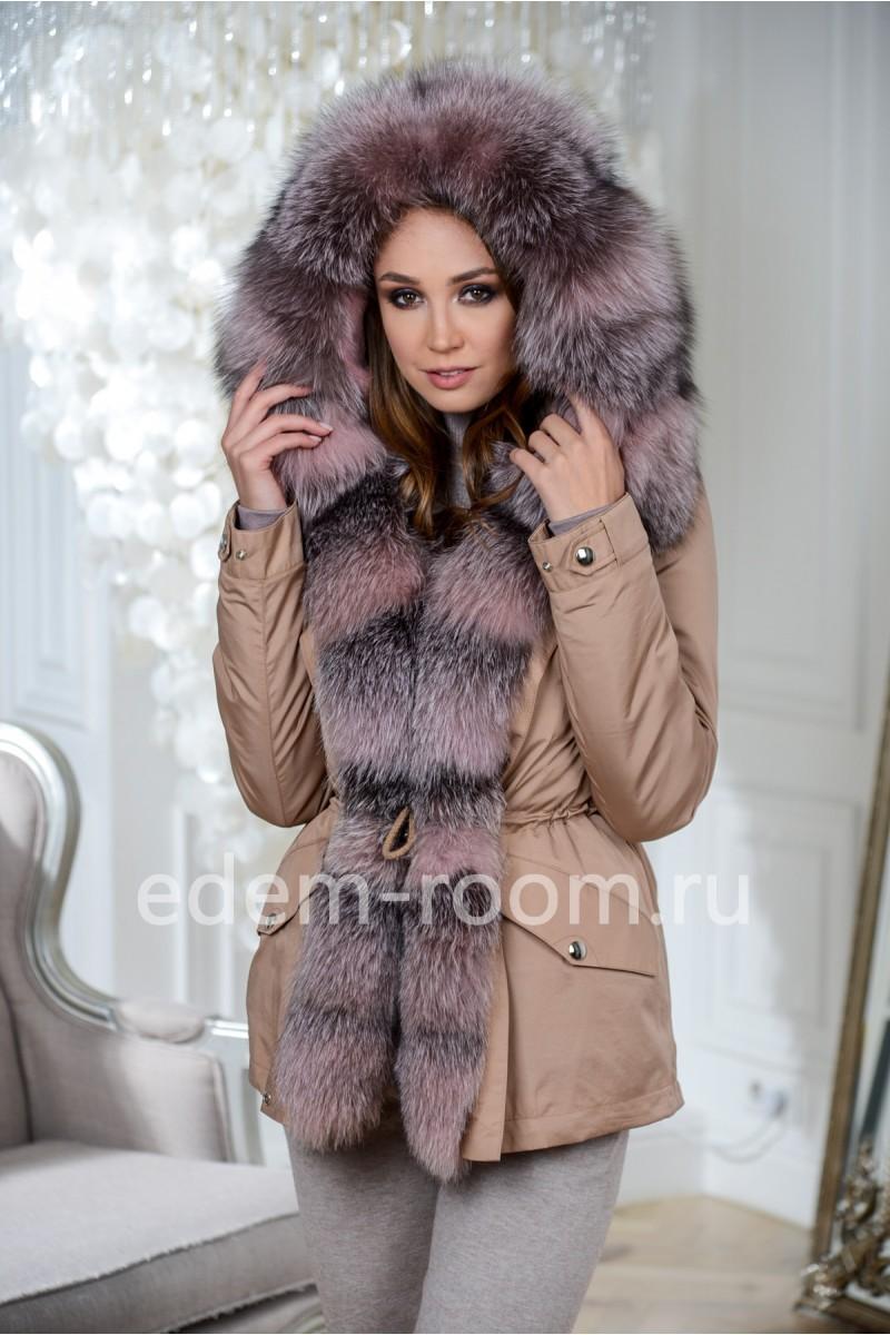 Куртка - парка с мехом для зимы