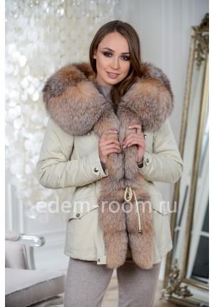 Зимняя куртка-парка с капюшоном